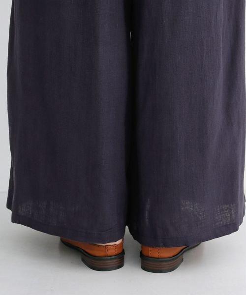 merlot(メルロー)/【IKYU】コットンリネンダブルタックイージーワイドパンツ/00010012-939670063187_img08