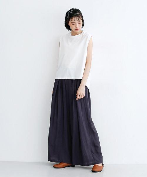 merlot(メルロー)/【IKYU】コットンリネンダブルタックイージーワイドパンツ/00010012-939670063187_img12