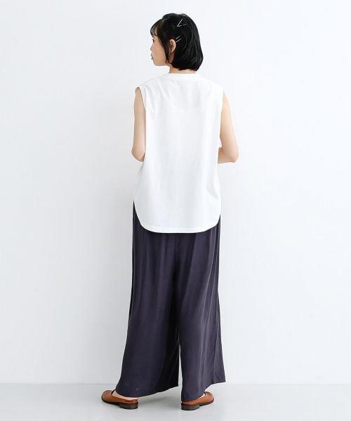 merlot(メルロー)/【IKYU】コットンリネンダブルタックイージーワイドパンツ/00010012-939670063187_img14