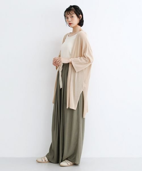 merlot(メルロー)/【IKYU】コットンリネンダブルタックイージーワイドパンツ/00010012-939670063187_img15