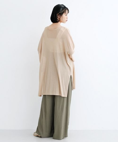 merlot(メルロー)/【IKYU】コットンリネンダブルタックイージーワイドパンツ/00010012-939670063187_img16