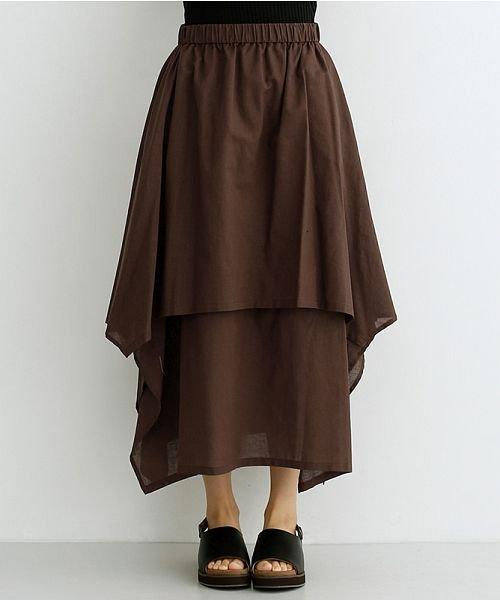 merlot(メルロー)/【IKYU】アシンメトリーフレアスカート/00010012-939670143148_img01