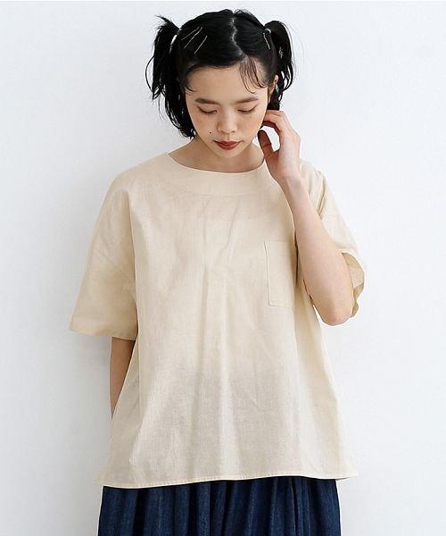 merlot(メルロー)/【IKYU】後ボタン半袖ブラウス/00010012-939670143149_img18