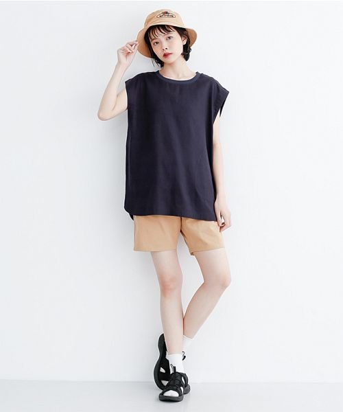 merlot(メルロー)/【IKYU】コットンリネンリブネックプルオーバー/00010012-939670143225_img11