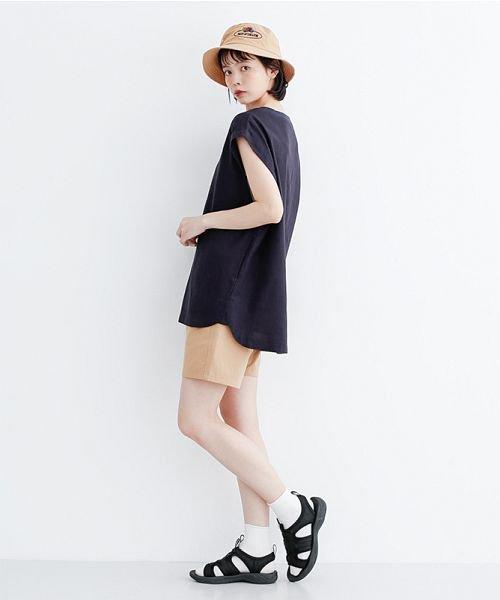 merlot(メルロー)/【IKYU】コットンリネンリブネックプルオーバー/00010012-939670143225_img12