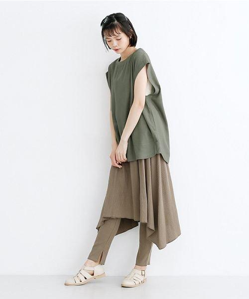 merlot(メルロー)/【IKYU】コットンリネンリブネックプルオーバー/00010012-939670143225_img13