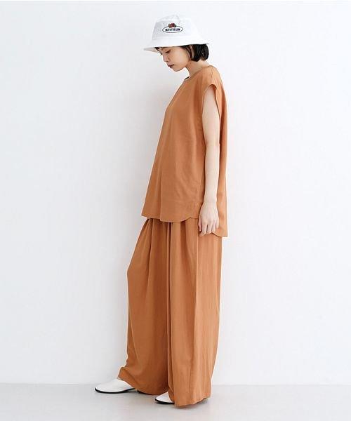 merlot(メルロー)/【IKYU】コットンリネンリブネックプルオーバー/00010012-939670143225_img15