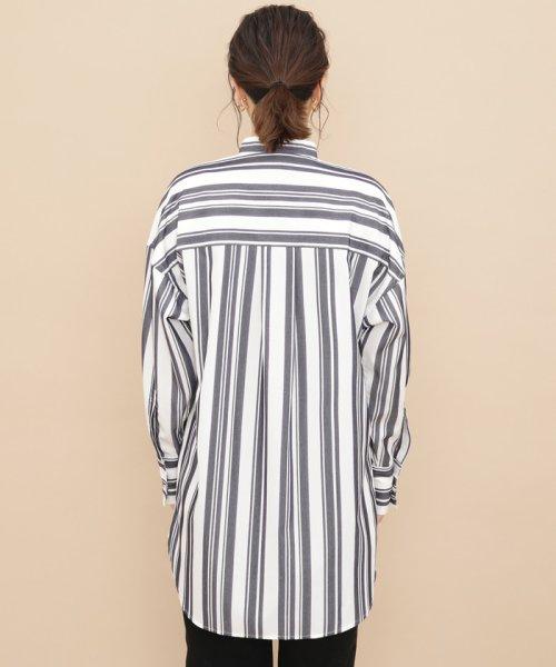 ADAM ET ROPE'(アダム エ ロペ)/【WEB限定】ストライプバンドカラーチュニックシャツ/GAH59520_img05