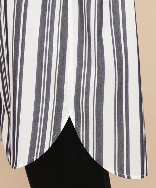 ADAM ET ROPE'(アダム エ ロペ)/【WEB限定】ストライプバンドカラーチュニックシャツ/GAH59520_img08