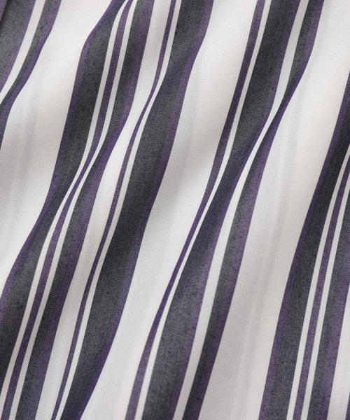 ADAM ET ROPE'(アダム エ ロペ)/【WEB限定】ストライプバンドカラーチュニックシャツ/GAH59520_img09