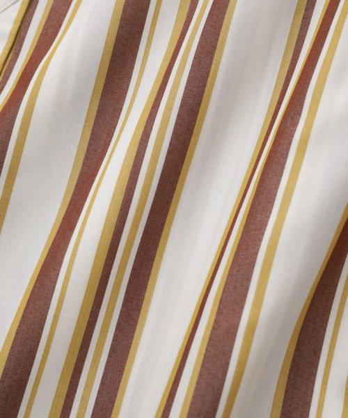 ADAM ET ROPE'(アダム エ ロペ)/【WEB限定】ストライプバンドカラーチュニックシャツ/GAH59520_img10