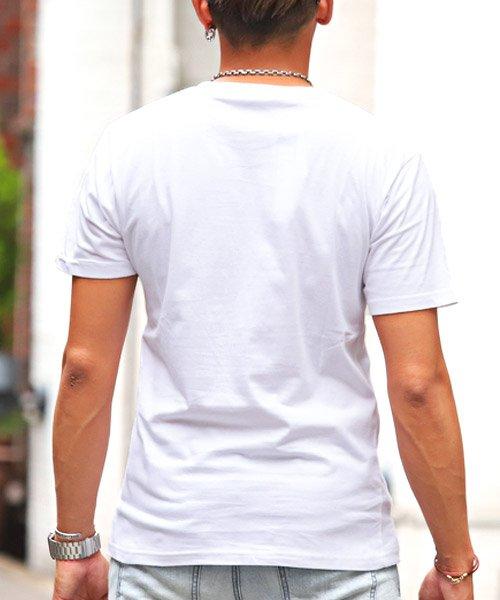 LUXSTYLE(ラグスタイル)/サーフテイストロゴプリント半袖Tシャツ/Tシャツ メンズ 半袖 ロゴ プリント/pm-8185_img01