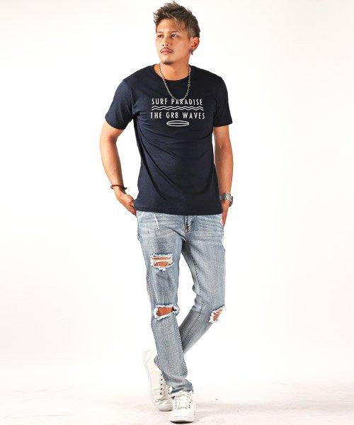 LUXSTYLE(ラグスタイル)/サーフテイストロゴプリント半袖Tシャツ/Tシャツ メンズ 半袖 ロゴ プリント/pm-8185_img04