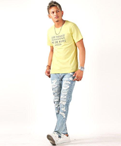 LUXSTYLE(ラグスタイル)/サーフテイストロゴプリント半袖Tシャツ/Tシャツ メンズ 半袖 ロゴ プリント/pm-8185_img05