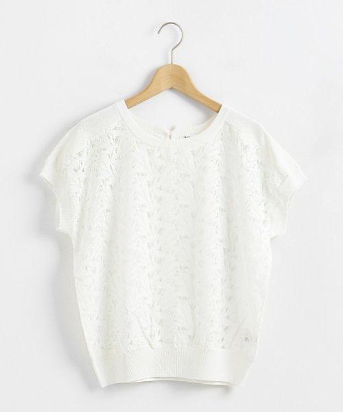 le.coeur blanc(ルクールブラン)/レースハギフレンチスリーブニット/3096021502_img12