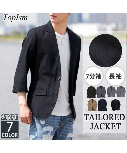 TopIsm(トップイズム)/7分袖2ボタンシングルテーラードジャケット/013S6383_img01