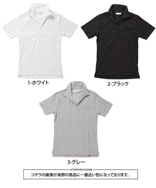 TopIsm(トップイズム)/スキッパーメンズポロシャツ襟ワイヤー入り/610043_img06