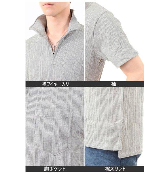 TopIsm(トップイズム)/スキッパーメンズポロシャツ襟ワイヤー入り/610043_img07