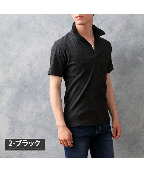 TopIsm(トップイズム)/スキッパーメンズポロシャツ襟ワイヤー入り/610043_img10