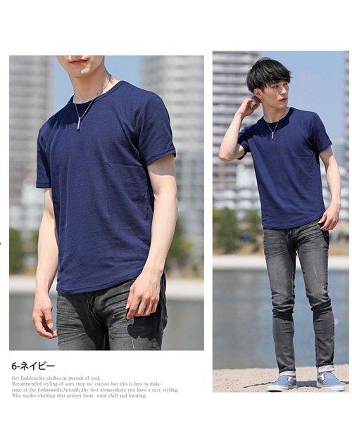 TopIsm(トップイズム)/ラウンドカット2重織Tシャツ/JB-80269_img08