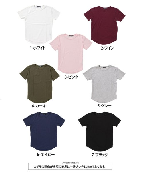 TopIsm(トップイズム)/ラウンドカット2重織Tシャツ/JB-80269_img12