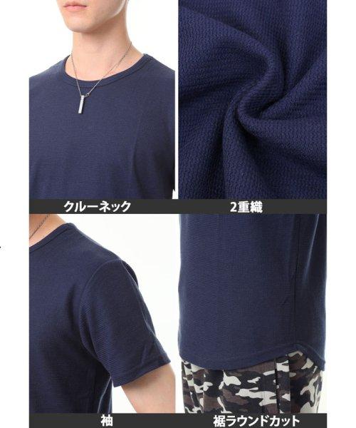 TopIsm(トップイズム)/ラウンドカット2重織Tシャツ/JB-80269_img13