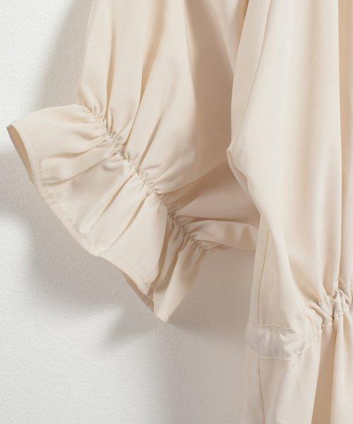 felt maglietta(フェルトマリエッタ)/一枚でお洒落シルエットが綺麗なギャザーワンピース/ワンピース/韓国ファッション/春/夏/am227_img04
