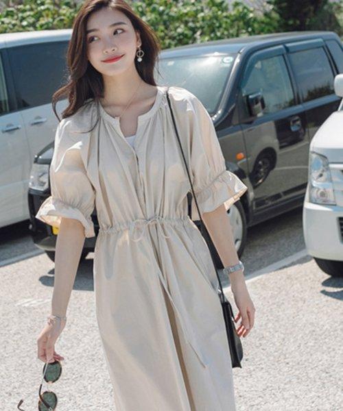 felt maglietta(フェルトマリエッタ)/一枚でお洒落シルエットが綺麗なギャザーワンピース/ワンピース/韓国ファッション/春/夏/am227_img07