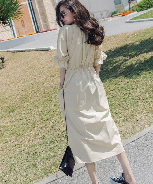 felt maglietta(フェルトマリエッタ)/一枚でお洒落シルエットが綺麗なギャザーワンピース/ワンピース/韓国ファッション/春/夏/am227_img08