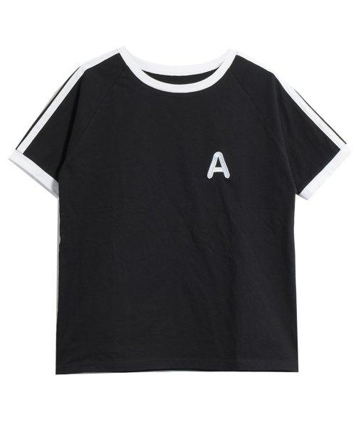 felt maglietta(フェルトマリエッタ)/大人気のラインBIGシルエットTシャツ◎胸部分の刺繍がポイント♪ライン刺繍Tシャツ/トップス/Tシャツ/ライン/韓国ファッション/BIGシルエット/オーバーサイ/am229_img05