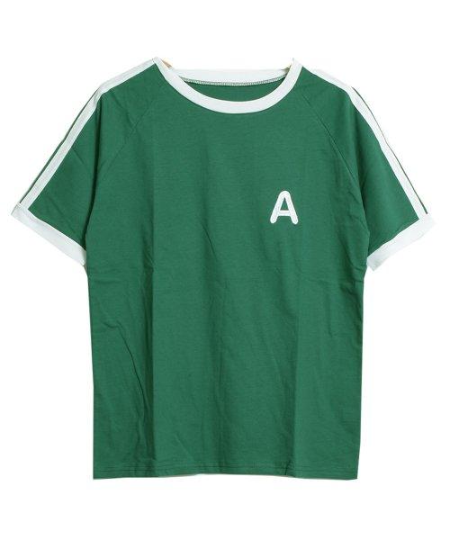 felt maglietta(フェルトマリエッタ)/大人気のラインBIGシルエットTシャツ◎胸部分の刺繍がポイント♪ライン刺繍Tシャツ/トップス/Tシャツ/ライン/韓国ファッション/BIGシルエット/オーバーサイ/am229_img07
