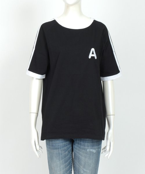 felt maglietta(フェルトマリエッタ)/大人気のラインBIGシルエットTシャツ◎胸部分の刺繍がポイント♪ライン刺繍Tシャツ/トップス/Tシャツ/ライン/韓国ファッション/BIGシルエット/オーバーサイ/am229_img08