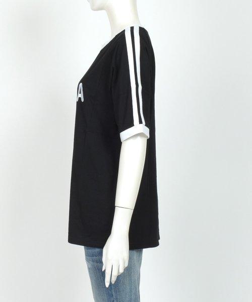 felt maglietta(フェルトマリエッタ)/大人気のラインBIGシルエットTシャツ◎胸部分の刺繍がポイント♪ライン刺繍Tシャツ/トップス/Tシャツ/ライン/韓国ファッション/BIGシルエット/オーバーサイ/am229_img09