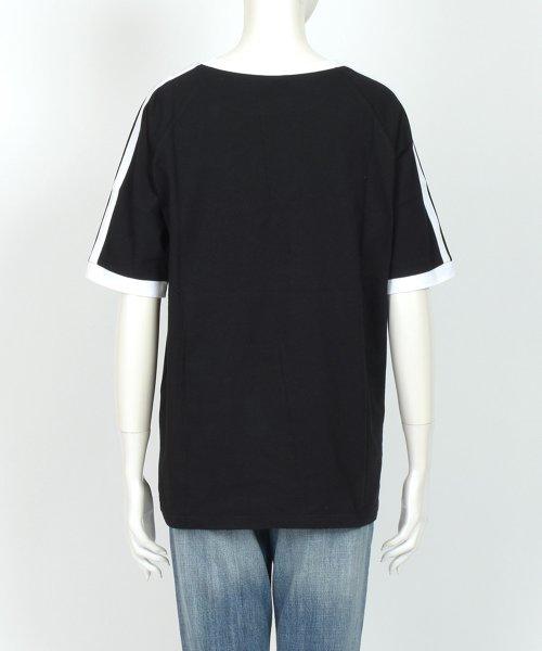 felt maglietta(フェルトマリエッタ)/大人気のラインBIGシルエットTシャツ◎胸部分の刺繍がポイント♪ライン刺繍Tシャツ/トップス/Tシャツ/ライン/韓国ファッション/BIGシルエット/オーバーサイ/am229_img10