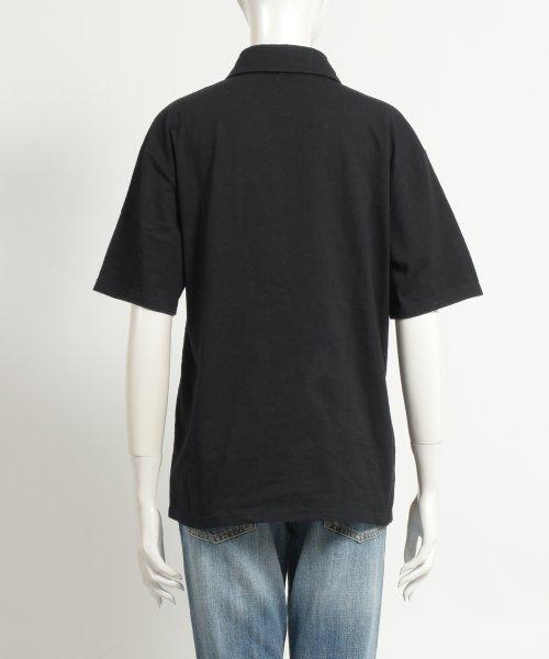 felt maglietta(フェルトマリエッタ)/アシメに付いたカラフルボタンが可愛い◎一枚でお洒落に着れるポロシャツ♪/トップス/カットソー/夏/ポロシャツ/韓国ファッションシャツ Tシャツ/am233_img03