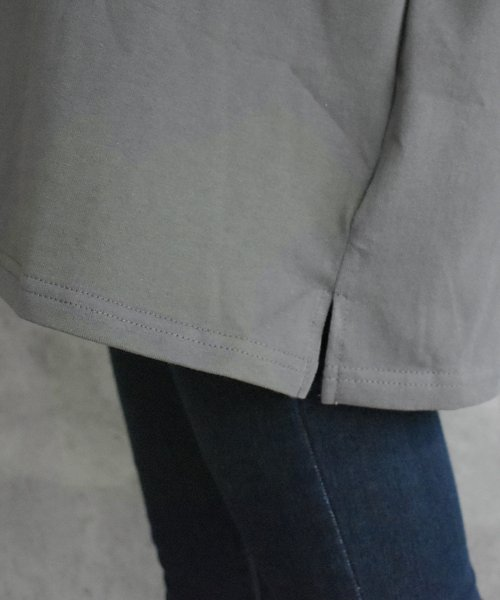 felt maglietta(フェルトマリエッタ)/フロントとバックの切り替えデザインでカジュアルなスタイリングに取り入れたトップス !!フットボール  Tシャツ/am235_img04