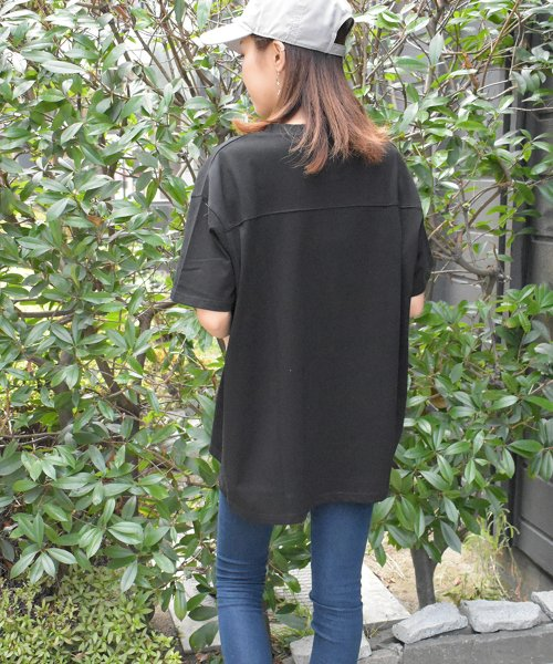 felt maglietta(フェルトマリエッタ)/フロントとバックの切り替えデザインでカジュアルなスタイリングに取り入れたトップス !!フットボール  Tシャツ/am235_img09