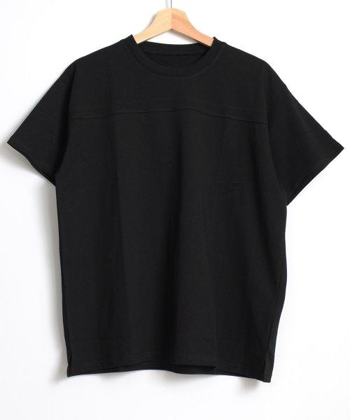felt maglietta(フェルトマリエッタ)/フロントとバックの切り替えデザインでカジュアルなスタイリングに取り入れたトップス !!フットボール  Tシャツ/am235_img11