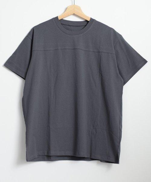 felt maglietta(フェルトマリエッタ)/フロントとバックの切り替えデザインでカジュアルなスタイリングに取り入れたトップス !!フットボール  Tシャツ/am235_img12