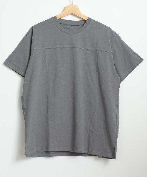felt maglietta(フェルトマリエッタ)/フロントとバックの切り替えデザインでカジュアルなスタイリングに取り入れたトップス !!フットボール  Tシャツ/am235_img13