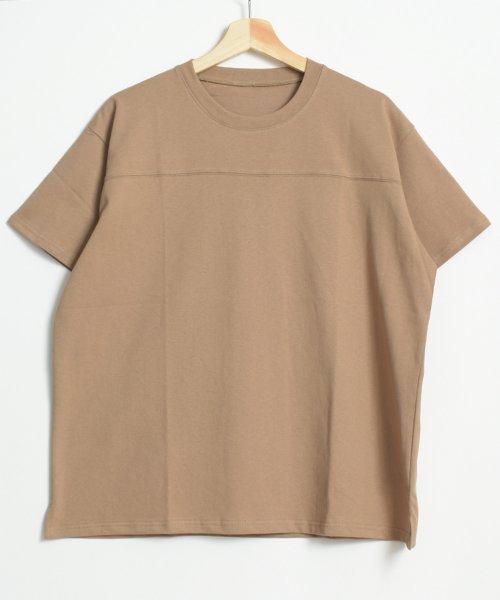 felt maglietta(フェルトマリエッタ)/フロントとバックの切り替えデザインでカジュアルなスタイリングに取り入れたトップス !!フットボール  Tシャツ/am235_img14