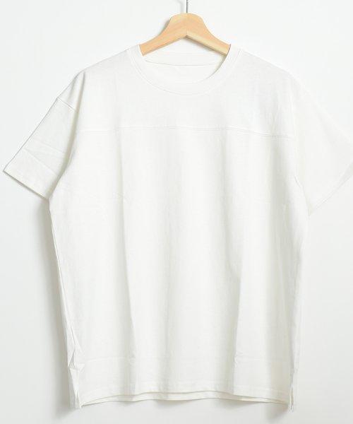 felt maglietta(フェルトマリエッタ)/フロントとバックの切り替えデザインでカジュアルなスタイリングに取り入れたトップス !!フットボール  Tシャツ/am235_img15