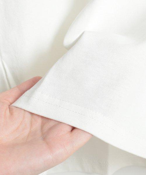 felt maglietta(フェルトマリエッタ)/フロントとバックの切り替えデザインでカジュアルなスタイリングに取り入れたトップス !!フットボール  Tシャツ/am235_img16