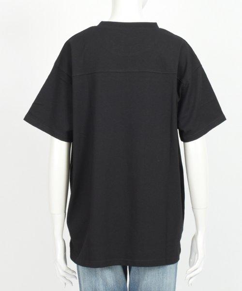 felt maglietta(フェルトマリエッタ)/フロントとバックの切り替えデザインでカジュアルなスタイリングに取り入れたトップス !!フットボール  Tシャツ/am235_img19