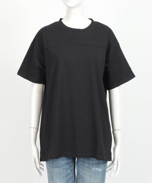 felt maglietta(フェルトマリエッタ)/フロントとバックの切り替えデザインでカジュアルなスタイリングに取り入れたトップス !!フットボール  Tシャツ/am235_img20