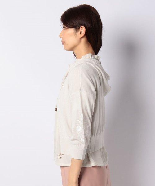 axes femme(アクシーズファム)/刺繍入りニットパーカー/AS143X01_img01