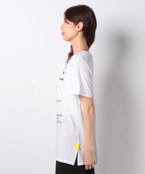 BENETTON (women)(ベネトン(レディース))/マルチカラーロゴサイドスリットポイントTシャツ・カットソー/19A3P1ZE15A0_img07