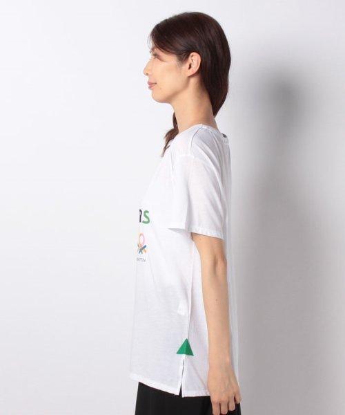 BENETTON (women)(ベネトン(レディース))/マルチカラーロゴサイドスリットポイントTシャツ・カットソー/19A3P1ZE15A0_img17