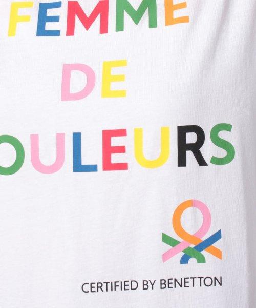 BENETTON (women)(ベネトン(レディース))/マルチカラーロゴサイドスリットポイントTシャツ・カットソー/19A3P1ZE15A0_img20