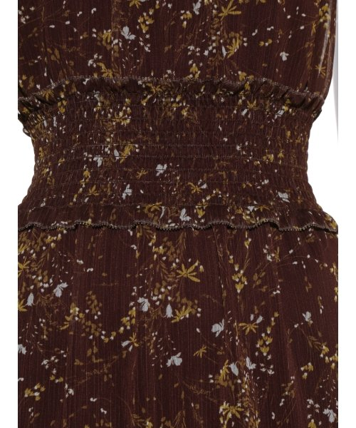 Mila Owen(ミラオーウェン)/ウエストシャーリングノースリーブ花柄ワンピース/09WFO194114_img07